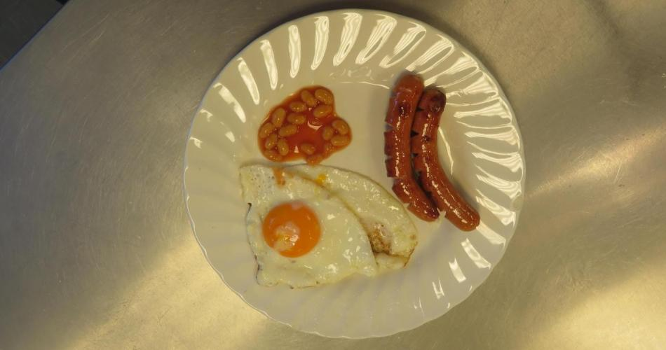 English breakfast plate